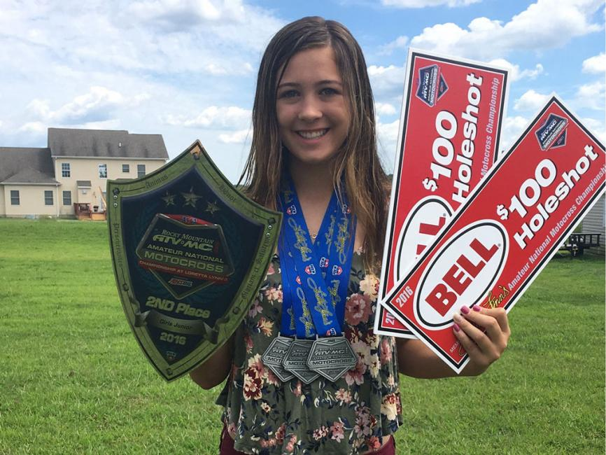 At the young age of 13, Katie Benson is already breaking the glass ceiling by her success in motocross racing.Photo: JMPR Inc.
