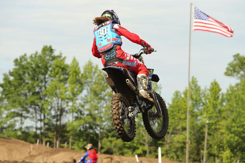 #30 Jordan Jarvis won both the Girls (12-16) and Womens (12+) classes on her Yamaha.