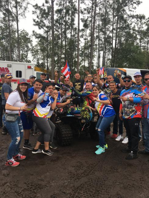 Over 40 racers and fans hailing from Puerto Rico joined the GNCC Racing Nation at the Moose Racing Wild Boar GNCC.