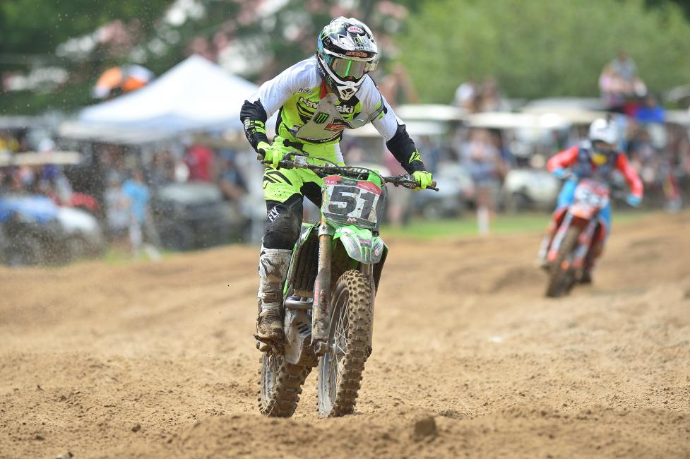 The 250 A moto one was nothing short of exciting as Seth Hammaker took the win with Derek Drake in second.