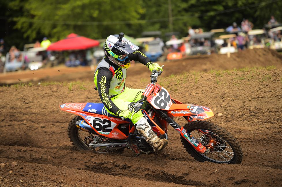 Mitchell Falk earned the win in the 250 A moto two this afternoon.