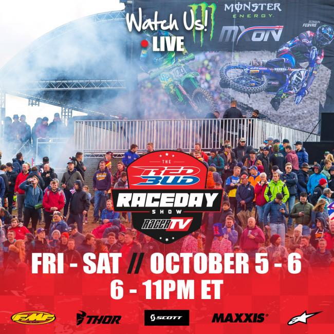 Watch The RedBud Raceday Show LIVE on Friday and Saturday at 6 p.m. ET