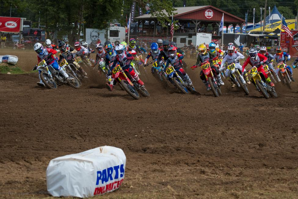 The B class racing was intense on the first day at Loretta Lynn's.