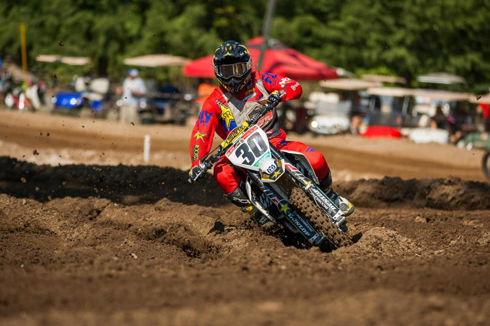Jalek Swoll earned the Open Pro Sport moto one victory.