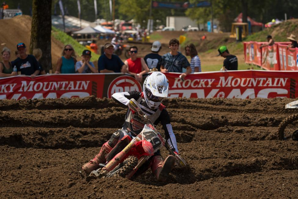 Jett Lawrence has gone 2-1 in the Open Pro Sport class, and is looking to take the moto three win on Friday afternoon.