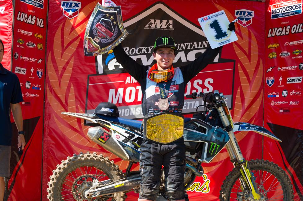 Hardy Munoz clinched the 250 Pro Sport class championship going 3-4-3.