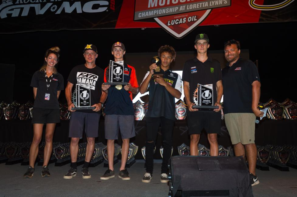 Michael Brown, Maxiums Vohland, Jarrett Frye earned the AMA Rider of the Year Awareds, while Jalek Swoll earned the Nicky Hayden AMA Motocross Horizon Award.