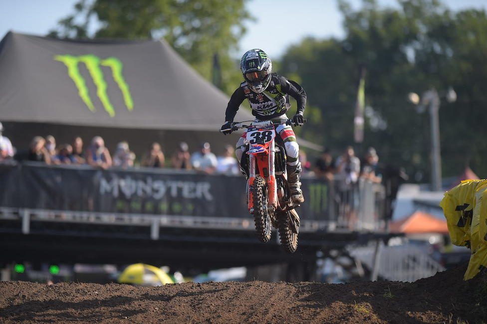 Haiden Deegan remained perfect with his fourth moto win of the week on Thursday.Photo: Ken Hill